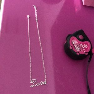 Jewelry - NEW Best Cursive Crystal LOVE Necklace